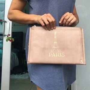 """NWT Deux Lux Rose Gold Clutch """"Paris"""""""
